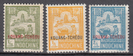 Kouang-Tcheou 73 + 74 + 75 * - Unused Stamps