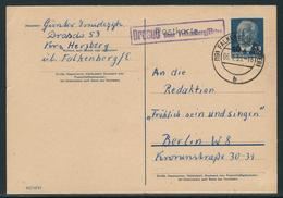 DDR Ganzsachenpostkarte MiNr. P 62, Gestempelt, Gelaufen Von DRASUO über Falkenberg/Elster Nach Berlin - DDR