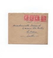 Lettre Affranchie 6f Gandon + 3x1f Céres Mazelin .Tarif Lettre Double Intérieur Du 8.7.47 - Postmark Collection (Covers)