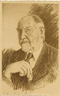 Carte Dessin Par Pierre Odoul De Arthur Puig Leclercq  1938 Trésor Manuscrit Shakespeare Format 8/12,5 Cms - Célébrités