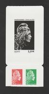 """FRANCE / 2018 / Y&T N° AA 1653/1655 ** : """"Marianne L'engagée"""" (les 3 Valeurs Du Carnet Adhésif Héliogravé) - Adhesive Stamps"""