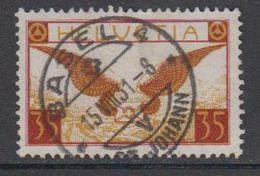 Switzerland 1929 Airmail 35c  Ordinary Paper Used (42191) - Luchtpostzegels
