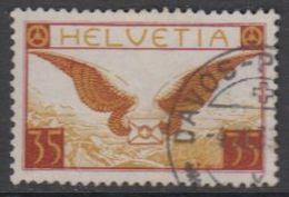 Switzerland 1929 Airmail 35c  Ordinary Paper Used (42191B) - Luchtpostzegels