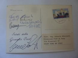 "Cartolina  Viaggiata ""ITALA RAID PEKING PARIS 1989 Saluti Dalla Germania Ovest"" Autografi Partecipanti - Cartoline"