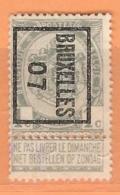 "COB 53 Préoblitéré TYPO  ""BRUXELLES 07""  Surharge B  (o) - Typos 1906-12 (Armoiries)"