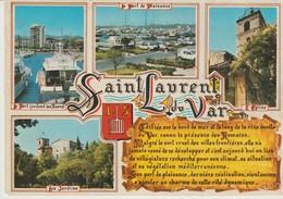 C.P.- PHOTO - SOUVENIR DE ST LAURENT DU VAR - 4 VUES - 117/104 - S. E. P. T. - Saint-Laurent-du-Var