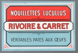 Carton NOUILLETTES LUCULLUS RIVOIRE ET CARRET (PPP10355) - Publicités