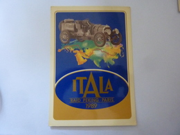 "Cartolina  Viaggiata ""ITALA RAID PEKING PARIS 1989 Saluti Dal BELGIO"" Autografi Partecipanti - Cartoline"