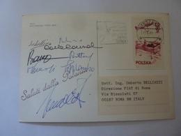 """Cartolina  Viaggiata """"ITALA RAID PEKING PARIS 1989 Saluti Dalla POLONIA"""" Autografi Partecipanti - Cartoline"""