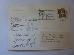 "Cartolina  Viaggiata ""ITALA RAID PEKING PARIS 1989 Saluti Dalla GERMANA EST"" Autografi Partecipanti - Cartoline"