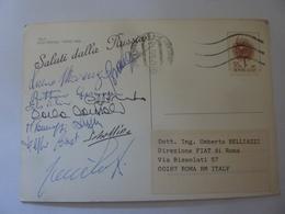 """Cartolina  Viaggiata """"ITALA RAID PEKING PARIS 1989 Saluti Dalla RUSSIA"""" Autografi Partecipanti - Cartoline"""