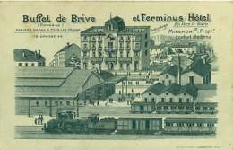 180319 - 19 BRIVE - Buffet De Brive Et Terminus Hôtel - MIREMONT Propriétaire - Gare Chemin De Fer Train - Brive La Gaillarde