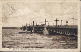 CPA CP Russie Saint St Petersbourg Pont De Troizky Voyagée 1911 - Russie