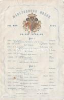 MARLBOROUGH HOUSE  1866  Music Programme  E108 - Programmes