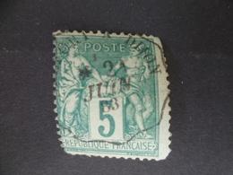SAGE N° 75  OBLITERATION  CONVOYEUR - 1876-1898 Sage (Type II)