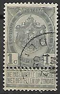 BELGIQUE     -    1893.  Y&T N° 53 Oblitéré. - 1893-1907 Coat Of Arms
