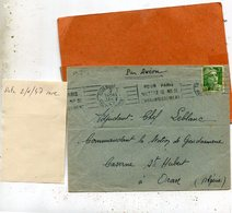 LETTRE Du 2 Janvier 1947 - Postmark Collection (Covers)