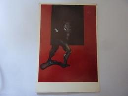"""Cartolina  Viaggiata """"FRANCIS BACON Incisioni VERNISSAGE Edizioni D'Arte Delfini Roma 1992"""" - Inaugurazioni"""