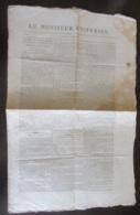 France - Journal Le Moniteur Universel N°96 Du 6 Avril 1818 - Cachet Timbre Royal 6c Rouge - Journaux - Quotidiens