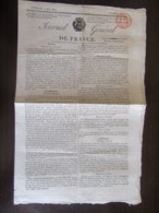 France - Journal Général De France N°617 Du Vendredi 10 Mai 1816 - Cachet Timbre Royal 3c Rouge - Journaux - Quotidiens