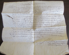 France - Superbe Document Ancien Manuscrit Sur Vélin Daté De 1660 à Déchiffrer. - Documents Historiques