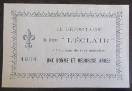 France - Calendrier (format 12x8 Cm) Du Journal L'Eclair à Montpellier - 1904 - Calendriers