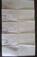 France - Guerre 14-18 - Lot De 4 Laissez-passer Permanents Sur Papier Filigrané - Canton De Pézenas - Datés 1914 Et 1917 - Documents Historiques