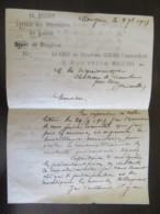 France - Guerre 14-18 - Service Des Prisonniers De Guerre, Dépôt De Mougères - Enveloppe Avec Pli Daté 1917 - Documents Historiques