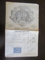 France - Facture Des Grands Magasins D'Horlogerie Et De Bijouterie Leforestier Avec Timbre Quittances - Vers 1900 - France