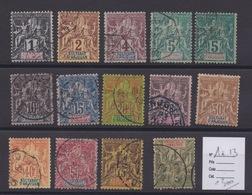 COLONIES FRANCAISES - Sultanat D'ANJOUAN Entre  N°1/13. Cote 220€. - Anjouan (1892-1912)