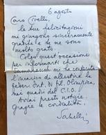 GIUSEPPE SABELLI FIORETTI LETTERA AUTOGRAFA  AL DR.ENZO CIVELLI TRIESTE  BIGLIETTO POSTALE  ROMA 6/8/82 - Autografi