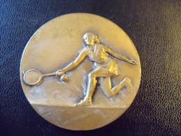 Ancienne Médaille Sportive Tennis 1977 Signée Contaux - France