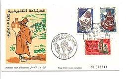 ALGERIE FDC 1966 ARTISANAT DE GRANDE KABYLIE - Algeria (1962-...)