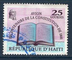 Haïti, Timbre Oblitéré, 2001, Bicentenaire De La Constitution De 1801, Valeur Faciale 25 Gourdes - Haïti