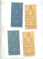 Ticket De Rationnement Pain Farine  Ville Metz - Documents Historiques