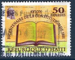 Haïti, Timbre Oblitéré, 2001, Bicentenaire De La Constitution De 1801, Valeur Faciale 50 Gourdes - Haïti