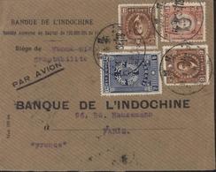 Chine YT 227A + 235 X2 + 248 CAD Yunnan Fou 16 1 36 Par Avion Dos Mixte Hokow 17 1 36 Transit Hanoi RP Tonkin 18 1 36 - 1912-1949 République