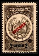 Nicaragua Color Proof $2 Cordobas Specimen - Nicaragua