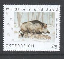 """Österreich 2019:  """"Wildtiere U.Jagd -Wildschwein"""" Postfrisch (siehe Foto) - 2011-... Ungebraucht"""