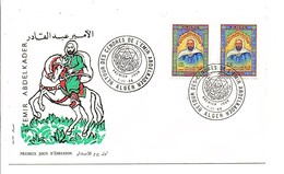 ALGERIE FDC 1966 RETOUR DES CENDRES D'ABDELKADER - Algérie (1962-...)