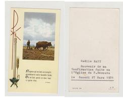 GAELLE BATY - SOUVENIR DE MA CONFIRMATION FAITE EN L'EGLISE DU P  SECOURS - LE SAMEDI 27 MARS 1971 - NATURE 454 - C - F - Images Religieuses