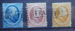 NEDERLAND   1864   Nr.  4 - 5 En 6     Gestempeld    CW  150,00 /  NVPH 2017 - 1852-1890 (Guillaume III)