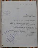 55 RARECOURT Louis BURE Lettre Contributions Directes VERDUN - France