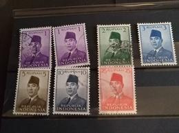 4 Cartons, 17 TP, Président Soekarno, Serikat, RIS, TP Propagande En Faveur Des Jeux Olympiques Asiatiques De New-Delhi - Indonésie