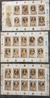 Malta 2014 GRANDMASTERS OF MILITARY ORDER SET OF THREE SHEET SETS  28STAMPS-  MNH - Malta