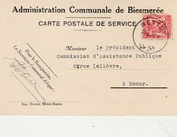 Administration Communale De Biesmerée ,1939 ( Signature Bourgemestre Et Secrétaire Communal ) METTET - Mettet