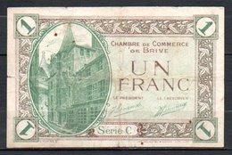 566-Brive Billet De 1 Franc 1924 Série C - Chamber Of Commerce