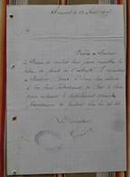 55 CLERMONT EN ARGONNE Perception Pour RARECOURT - France
