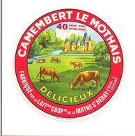 ETIQUETTE FROMAGE CAMEMBERT  LE MOTHAIS - LA MOTHE ST HERAY (DEUX SEVRES) (Garnaud) - Fromage