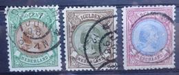 NEDERLAND   1893    Nr. 45 - 47    Gestempeld    CW  225,00 /  NVPH 2017 - Period 1891-1948 (Wilhelmina)